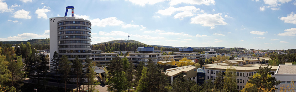 Aerial view on campus of TU Kaiserslautern