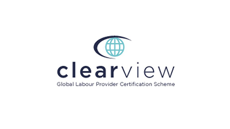 Logo of Clearview certification scheme for labour recruiters